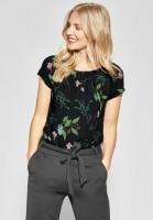 Street One - Allover Print Shirt Felia in Black