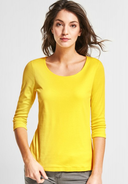 Street One - Schmales Basic Shirt Pania in Sunshine Yellow