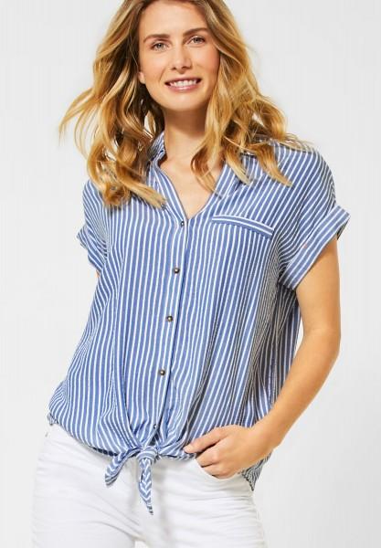 CECIL - Hemdbluse mit Streifen in Blouse Blue