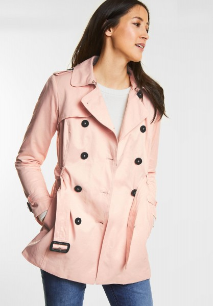 Street One - Klassischer Trenchcoat in Cosy Rose