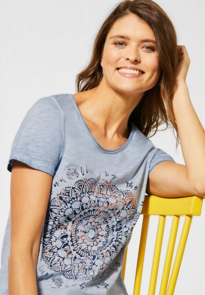 CECIL - T-Shirt mit Mandala in Blouse Blue
