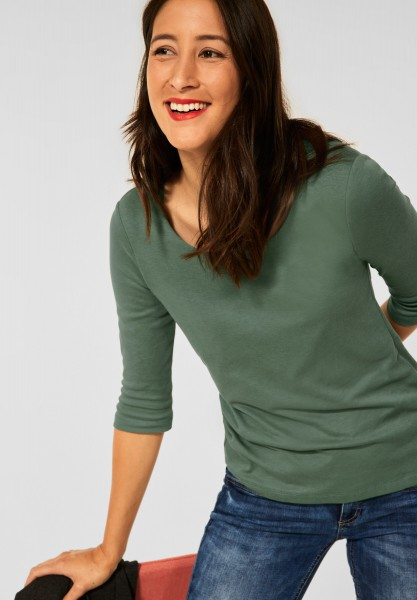 Street One - Basic Shirt Pania in Frosty Green
