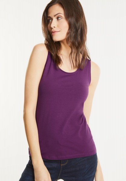 Street One - Organic Rundhalstop Bethy in Sunny Violet