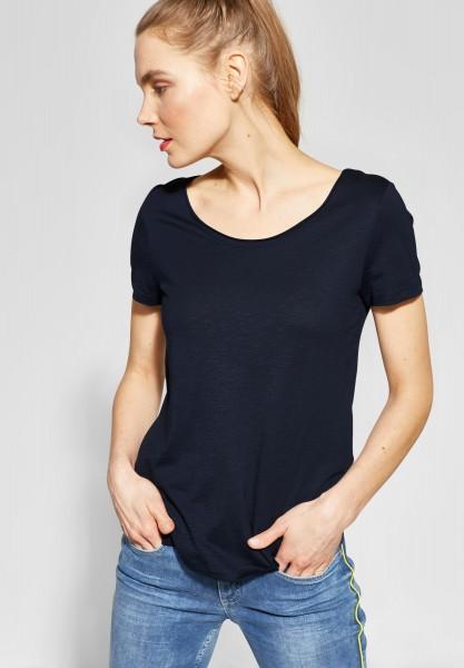 Street One - Basic Shirt Gerda in Deep Blue