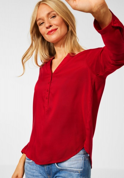 Street One - Bluse in Unifarbe in Full Red