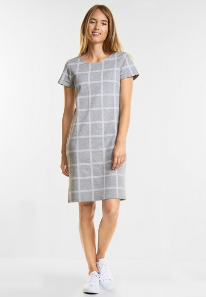 Street One - Sportliches Karo Kleid in Moon Grey Melange