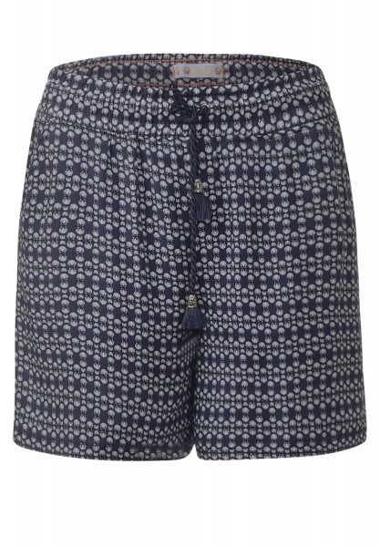 Street One - Weiche Printshorts Edisa in Night Blue