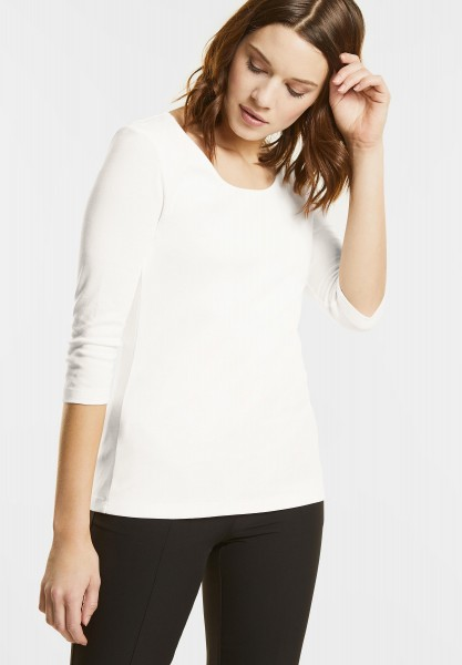 Street One - Schmales Basic Shirt Pania in Off White