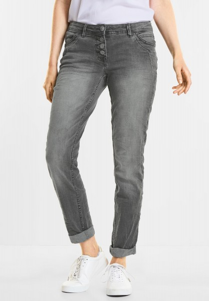 CECIL - Graue Denim Scarlett in Grey Used Wash
