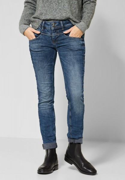 Street One - Casual Fit Denim Crissi in Authentic Mid Blue Wash