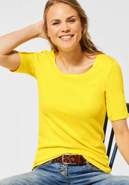 CECIL - Organic Halbarmshirt Lena in Radiant Yellow