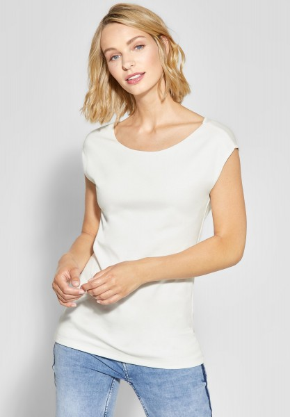 Street One - Weiches Basic-Shirt Ada in Off White
