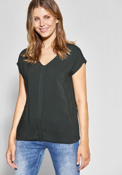 CECIL - Weiches Mat-Mix Shirt in Slate Green