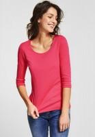 Street One - Schmales Basic Shirt Pania in Dark Blossom Pink