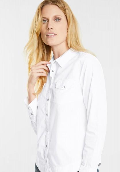 CECIL - Lässige Uni Bluse in White