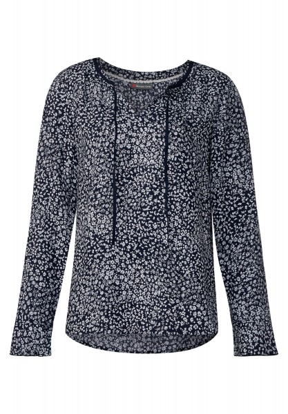 Street One - Bluse mit Blumenprint in Night Blue
