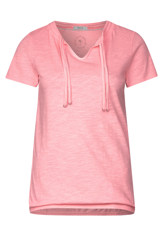 CECIL Lässiges Tunika Shirt in Neon Apricot
