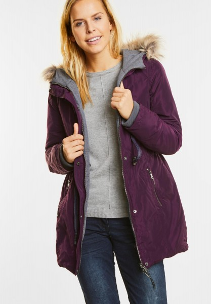 CECIL - Wende-Parka in Dark Berry