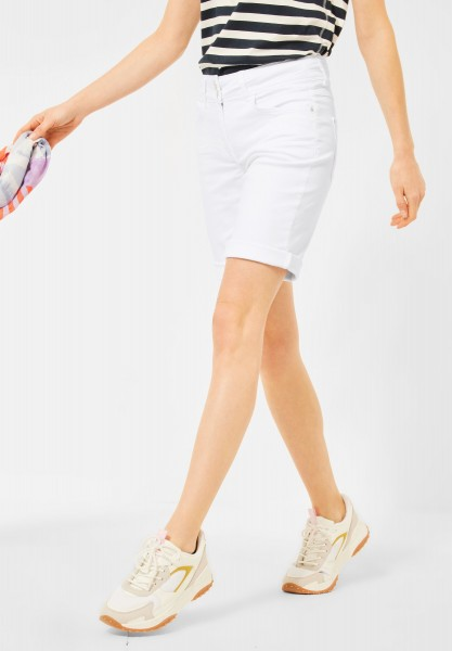 CECIL - Loose Fit Shorts in Unifarbe in White