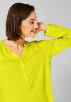 Street One - Unifarbene Bluse in Lime