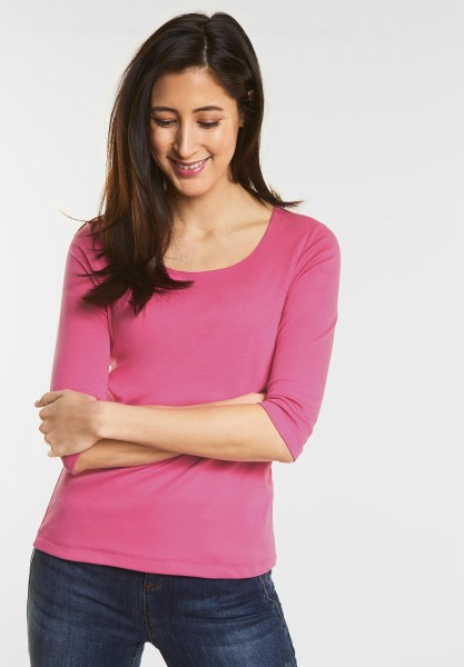 Street One - Schmales Basic Shirt Pania in Flamingo Pink