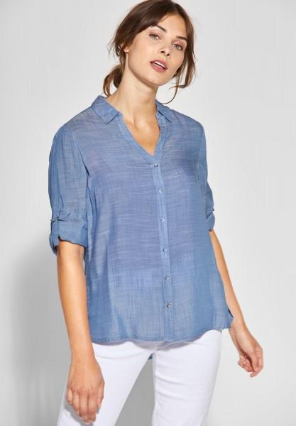 CECIL - Melange Shirt-Bluse in Blouse Blue