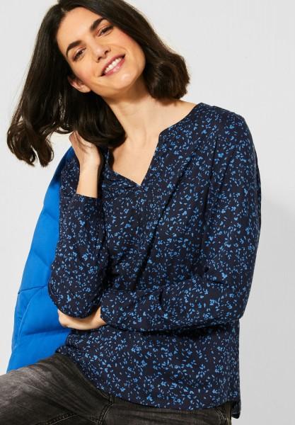 CECIL - Bluse mit Print in Bright Blue
