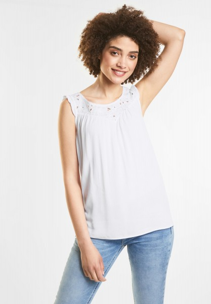 Street One - Spitzen Top Henrike in White