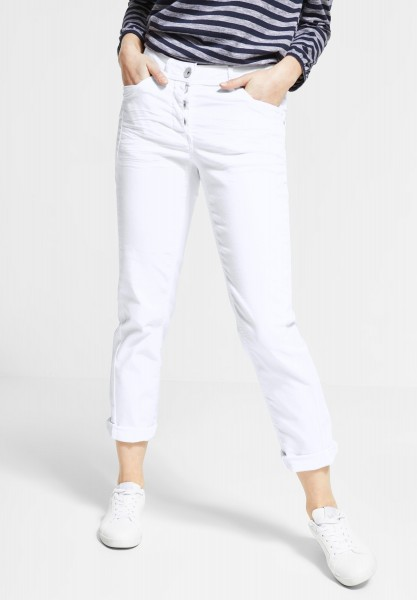 CECIL - Casual Fit Hose Hailey in White