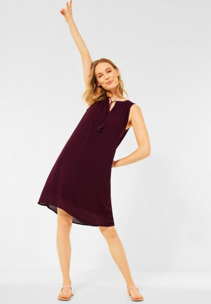CECIL - Kleid in Crepe Optik in Red Grape