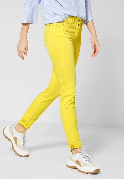 CECIL - Colour Hose im Casual Fit in Fresh Yellow