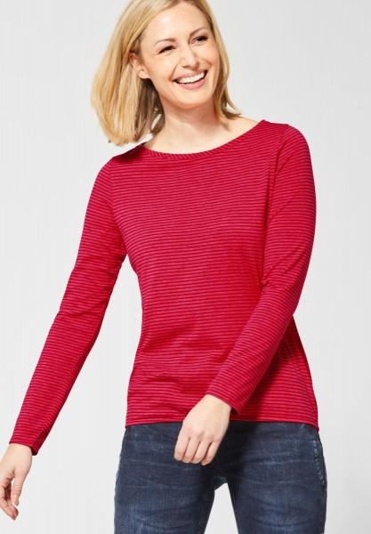 CECIL - Streifenshirt Marlena in Tomato Red