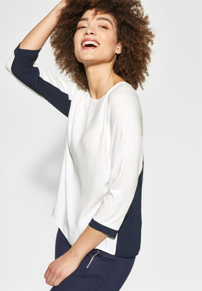 Street One - Color Block Shirt Evi in Off White