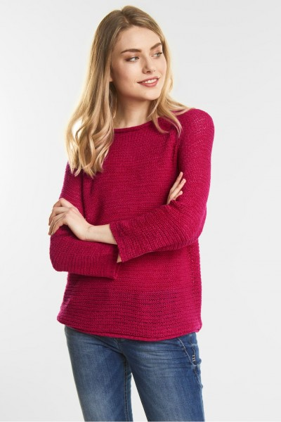 Street One - Weicher Strickpulli in Carribean Pink