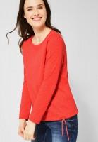 CECIL - Shirt im 2in1 Look in Tangerine Orange