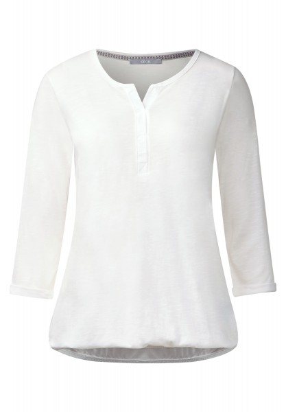 CECIL - 3/4-Arm Shirt Amelie Pure off White