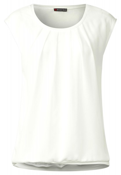 Street One - Blickdichtes Chiffontop in Off White