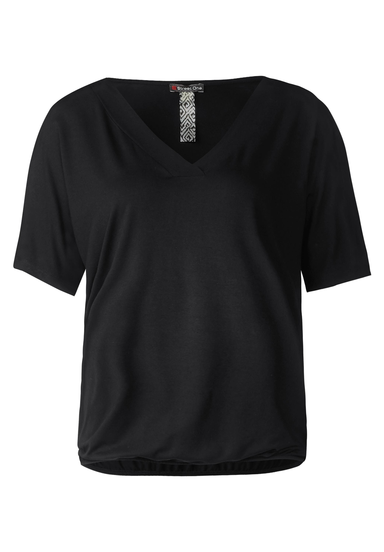 776d0b86323d5e ... Vorschau  Street One - Schlichtes V-Neck Shirt in Black ...