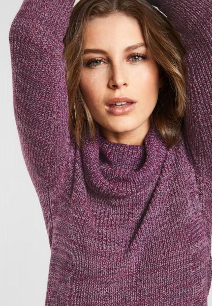 CECIL - Pullover mit großem Kragen in Fuchsia Pink