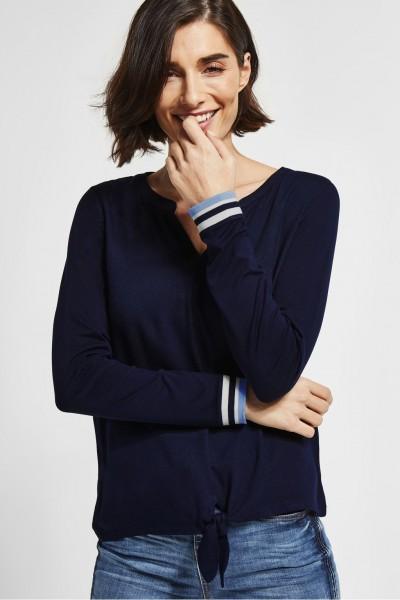 Street One - Shirt mit Knoten Pamina in Deep Blue