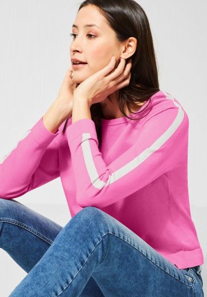 Street One - Pullover mit Raglan-Ärmeln in Candy Rose