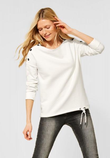CECIL - Shirt mit Ottoman-Struktur in Pure Off White