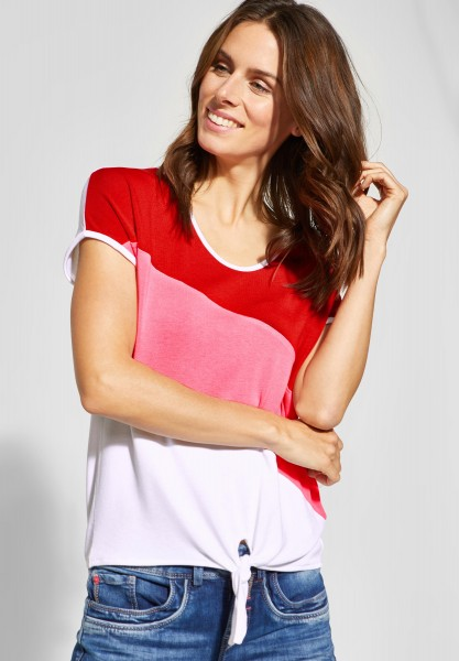 Street One - Color Block Shirt Ramona in Blossom Pink