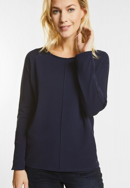 CECIL - Weiches Longsleeve Valentina in Deep Blue