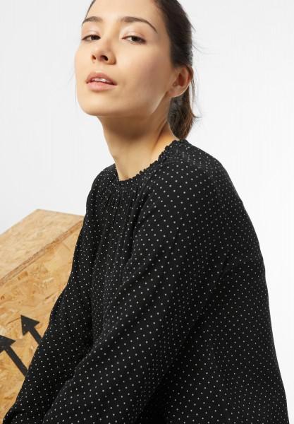 Street One - Bluse mit kurzer Rüsche Kate Black