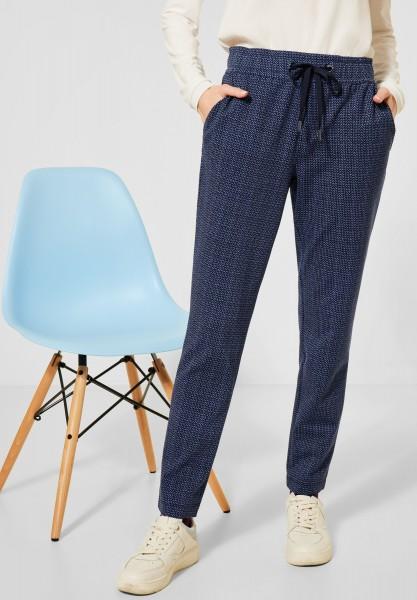 Street One - Loose Fit Hose mit Slim Legs in Deep Blue