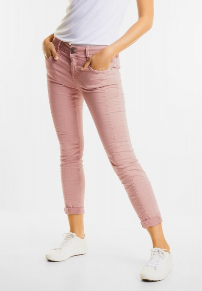 Street One - Loose Fit Coloured Denim Rob in Studio Rose Authentic wash