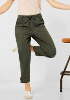CECIL - Loose Fit Hose mit Paperbag in Utility Olive
