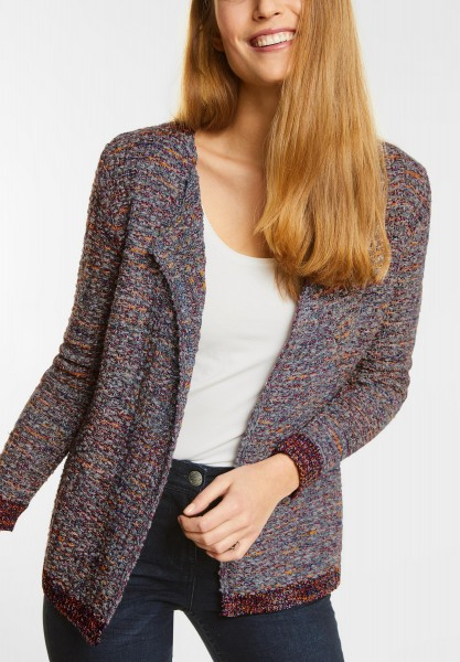 CECIL - Kurzer Multicolor Cardigan in Cranberry Red