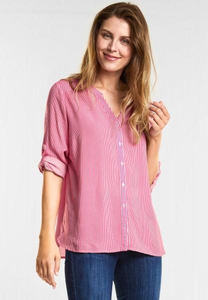 CECIL - Weiche Streifen-Mix Bluse in Galaxy Pink